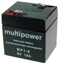 Multipower Bleiakku 6V - 1Ah MP1-6   A206/1,0S