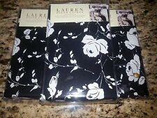 New Ralph Lauren 3 European Shams- Port Palace Floral Black