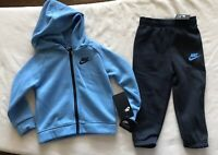 NIKE Sportswear Baby Boy Zip Hoodie & SweatPants 2 Piece Set - 24M