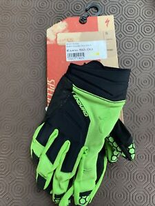 Specialised Enduro Cycling Gloves Black Green S Small Rrp £50 New 🚲