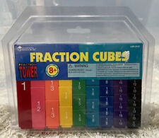 Learning Resources Fraction Tower Cubes Equivalency Set 51Pcs Multicolor