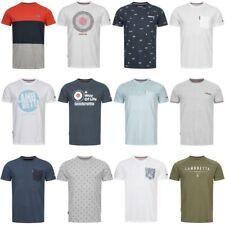 Lambretta Originals Tipped Pique Raglan Washed Graphic Stripe Herren T-Shirt