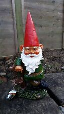 Ceramic Garden Gnome - 30cm Tall - Gnome for the Garden Sculpture