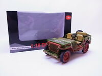 81052 American Diorama US Armée WWII Jeep Véhicule Militaire Police 1:18 Neuf '