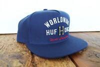 HUF METAL H STRAPBACK CAP NEU NAVY HUF WORLDWIDE