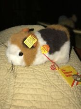 Steiff Dalle Guinea Pig 2252/10 Button Tag Vintage Toy Hamster White Brown