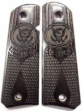 Colt 1911 Pistol Grips US Army in Charcoal Silver