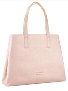 Kate Spade New York Pink Extra Large Tote Bag Carryall Shopping Work Travel New