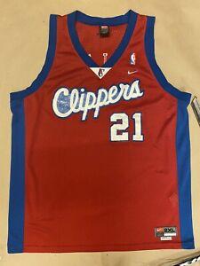 VINTAGE NIKE DARIUS MILES 21 LA LOS ANGELES CLIPPERS NBA JERSEY, SIZE XXL
