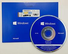 Microsoft Windows 8.1 64 Bit DVD Vollversion Deutsch WN7-00619