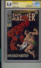 SUB-MARINER #8 CGC 5.0 SS SIGNED STAN LEE WHITE PAGES SUB-MARINER VS THING