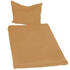 4x Juego ropa de cama poliéster sábana edredón funda almohada 200x135 marrone