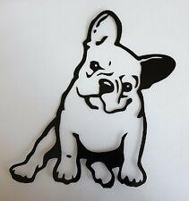2x French Bulldog Vinyl Sticker Cute Puppy Car Camper Van Bumper Black