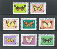 N.306- Vietnam butterflies set 8 1976