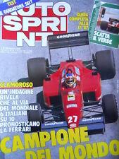 Autosprint n°15 1987 Ferrari Campione  [P5]
