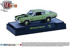 1:64 M2 Machines Detroit Muscle R32 *GREEN* 1969 Plymouth Cuda 440 *NIB!*