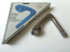 *NOS Vintage 3ttt 'EVOL 2002' grey anodized 'hinged jaw' head stem - 125mm*