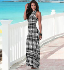 Cotton/Polyester Stripes Long Sleeve Dresses for Women