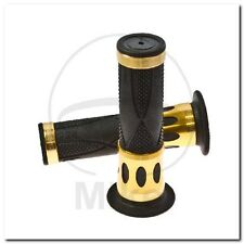GRIPS BLACK/GOLD ALU D.22MM. L.122MM CLOSED 728.11 Griffgummi schwarz/gold ALU
