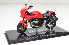 MOTO GUZZI V11 LE MANS Rojo Escala 1:24 modelo de motocicleta de Atlas die-cast