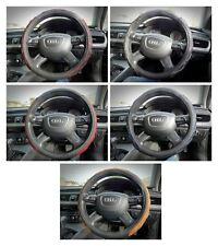 Comfortable PU Leather Universal Car Van Steering Wheel Cover Protectors 36/38cm