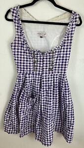 Vintage Fairytale Cottagecore Prairie Tyrol Dirndl Dress Size U.K. 10
