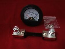 DC 0-60A Round Analog Ammeter Panel Current Meter Dia. 66.4mm DH52 with shunt