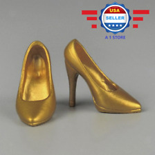 ZY Toys 1/6 scale GOLD High Heel Pumps Shoes for 12'' female figure PHICEN