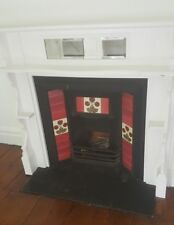 Solid timber mantel peice with cast iron frame