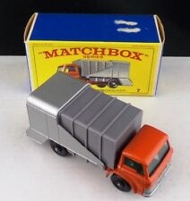 ** MATCHBOX LESNEY BOXED MINT REFUSE TRUCK #7 **
