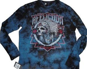 AFFLICTION SPIKER IMPACT Mens XXL Long Sleeve SKULL 2XL T shirt NEW A19803 Tee