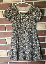 Gymboree Glamour Kitty Girls 5 Leopard Spot Faux Wrap Knit Dress Short Sleeve