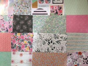 "8"" x 8"" 16 Sheet Taster Pack BLOOM & WONDER Card Making Scrapbook Craft Paper"