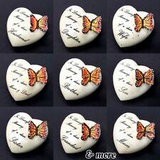 ❤HEART MEMORIAL ORNAMENT Graveside Butterfly 8cm Loving Memory Grave Remembrance