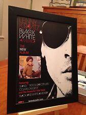 "FRAMED ORIGINAL LENNY KRAVITZ ""BLACK AND WHITE AMERICA"" LP ALBUM CD PROMO AD"