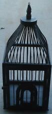 Nice Vintage All Wood Crafted Decorative Bird Cage - VGC - PAINTED BLACK - GREAT
