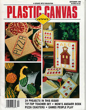 LEISURE ARTS PLASTIC CANVAS CORNER MAGAZINE SEPTEMBER 1992