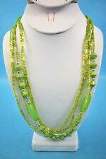 """Green Seed Beads 28"""" Necklace - NEW In Box"""
