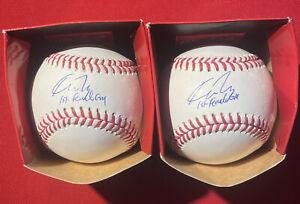 """Kim Ng autographed baseballs with """"First Female GM"""" inscription"""