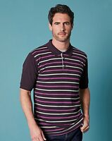 Purple stripe polo shirt in size x large 2xl 3xl 4xl and 5xl Jacamo
