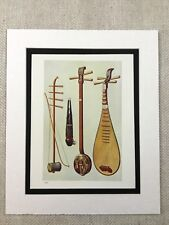 """Jeff Laibson /""""Blue Piano/""""/' Hand Signed Art Print 12/""""X16/"""" Matted /'Art of Music/'"""