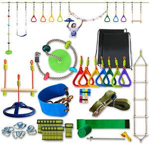 Slacker Ninja Line for Kids Ninja Warrior Obstacle Course Swing -50ft Slackline