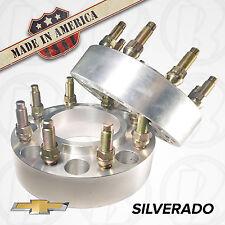 "2 USA MADE Chevy Silverado HUB CENTRIC Wheel Adapters / 2"" Spacers 8 Lug 8x180"
