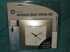 NEW GE SMART HOME - GE WIRELESS DOOR BELL CHIME KIT and CLOCK DL13
