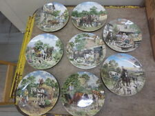 8 x WEDGWOOD COLLECTORS PLATES - LIFE ON THE FARM by JOHN L CHAPMAN - 1988-90