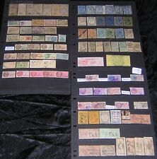 France & Colonies Revenues Collection 92 diff used stamps with hi vals cv $194+