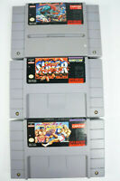 Lot of 3 Street Fighter II Super Turbo Super Nintendo Fighting Game Carts Tested