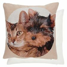 Clayre&Eef Coussin écrit CHATS Terrier shabby chic Chalet Housse de coussin NEUF