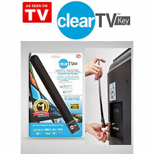 NEW Slim Clear TV Key HDTV FREE Broadcast TV Digital Indoor Antenna Ditch Cable