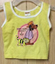Hong Kong Phooey & Spot Vintage Shirt Top Baby Infant Hanna Barberra 1976 NOS